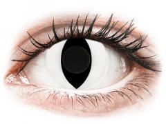 CRAZY LENS - Cat Eye White - journalières non correctrices (2 lentilles)
