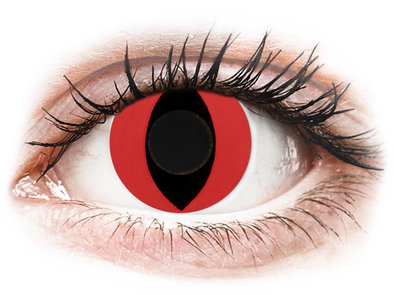 CRAZY LENS - Cat Eye Red - journalières non correctrices (2 lentilles)