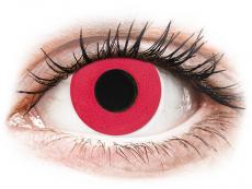 CRAZY LENS - Solid Red - journalières correctrices (2 lentilles)
