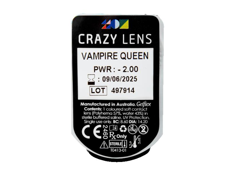 CRAZY LENS - Vampire Queen - journalières correctrices (2 lentilles)