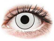 CRAZY LENS - White Black - journalières non correctrices (2 lentilles)