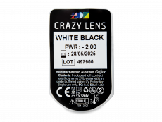 CRAZY LENS - White Black - journalières correctrices (2 lentilles)
