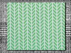 Chiffon à lunettes - chevrons verts et blancs