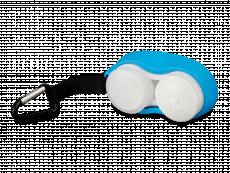 Étui à lentille avec mousqueton - bleu