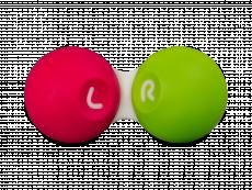 Étui à lentilles de contact - Rose et vert