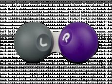 Étui à lentilles de contact - Gris et violet