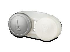 Étui à lentilles antibactérien - gris