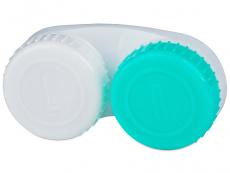 Étui à lentilles L/R - Vert & Blanc