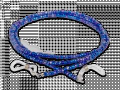 Cordon pour lunettes bleu - perles