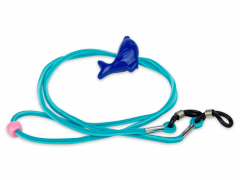 Cordon pour lunettes bleu - dauphin