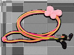 Cordon pour lunettes rose et jaune - papillon