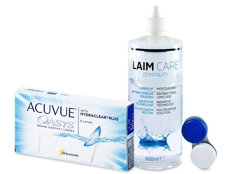 Acuvue Oasys (6lentilles) +Laim-Care400ml